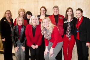 """Friday was Red Day at the Capitol in honor of the American Heart Association's """"Go Red"""" for Women.  These gals rock the house - any day of the week!"""